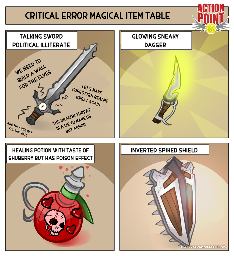 Critical Error Magic Item Table #1