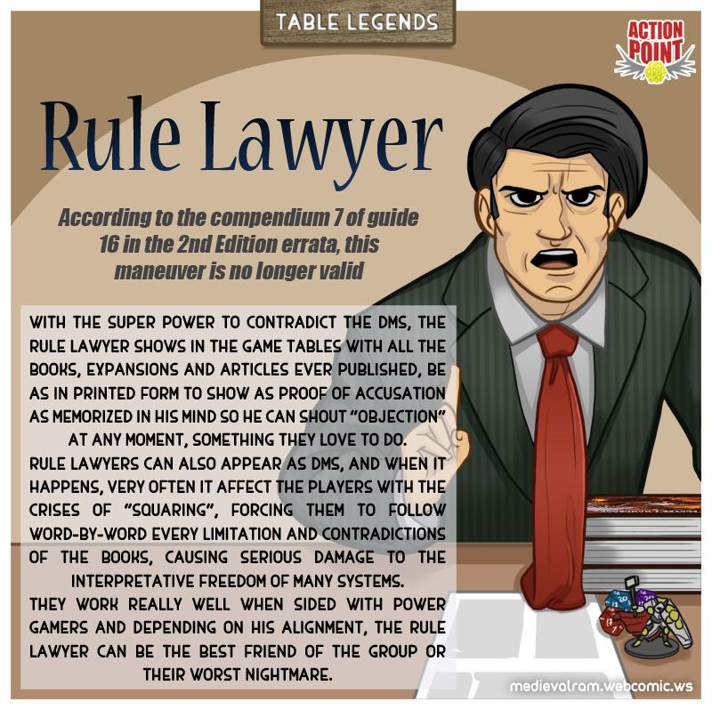 Table Legends #2 - Rule Lawyer