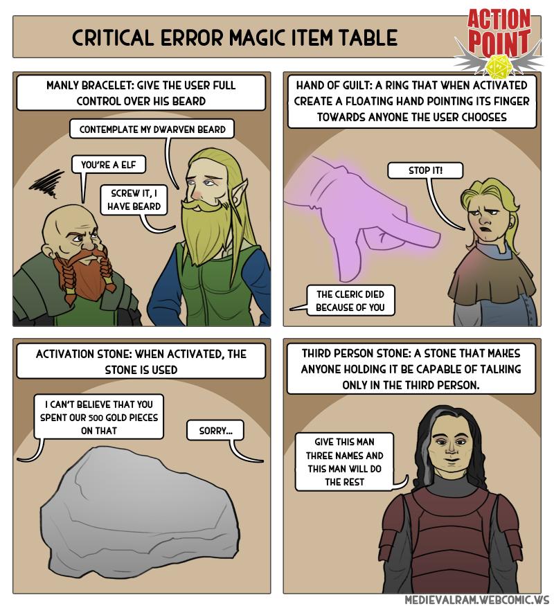 Critical Error Magic Item Table #8