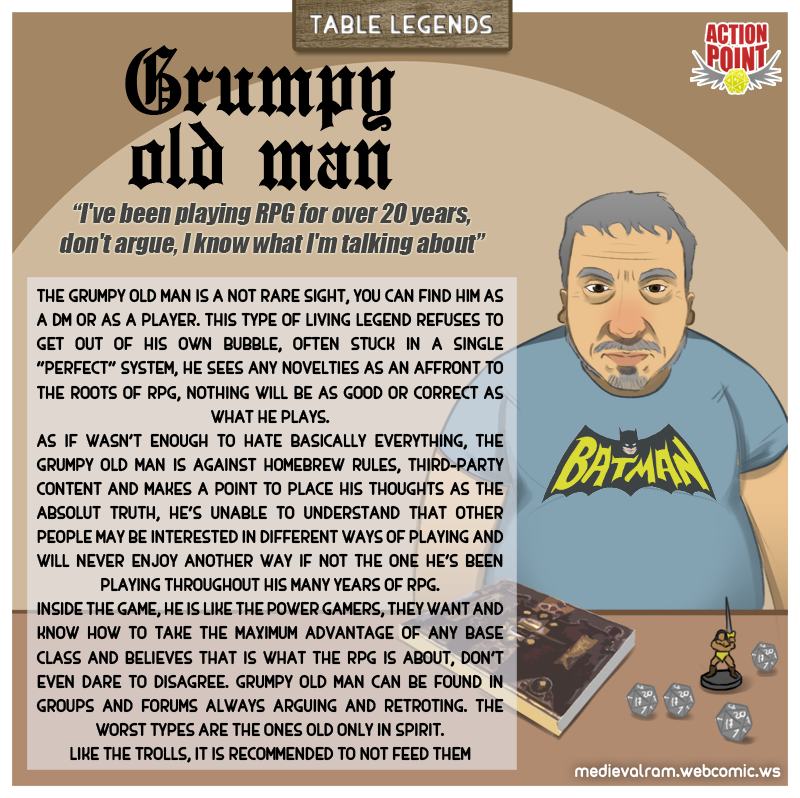 Table Legends #11 - Grumpy Old Man
