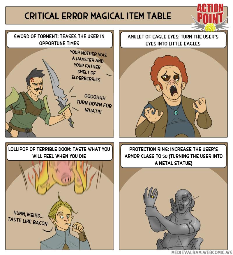 Critical Error Magic Item Table #9