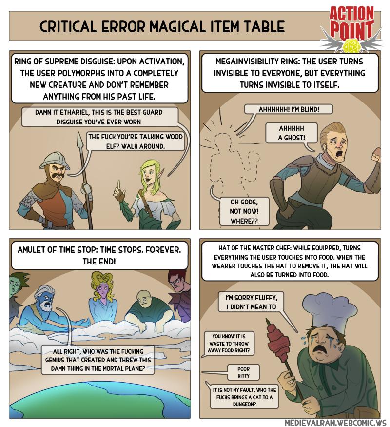 Critical Error Magic Item Table #10
