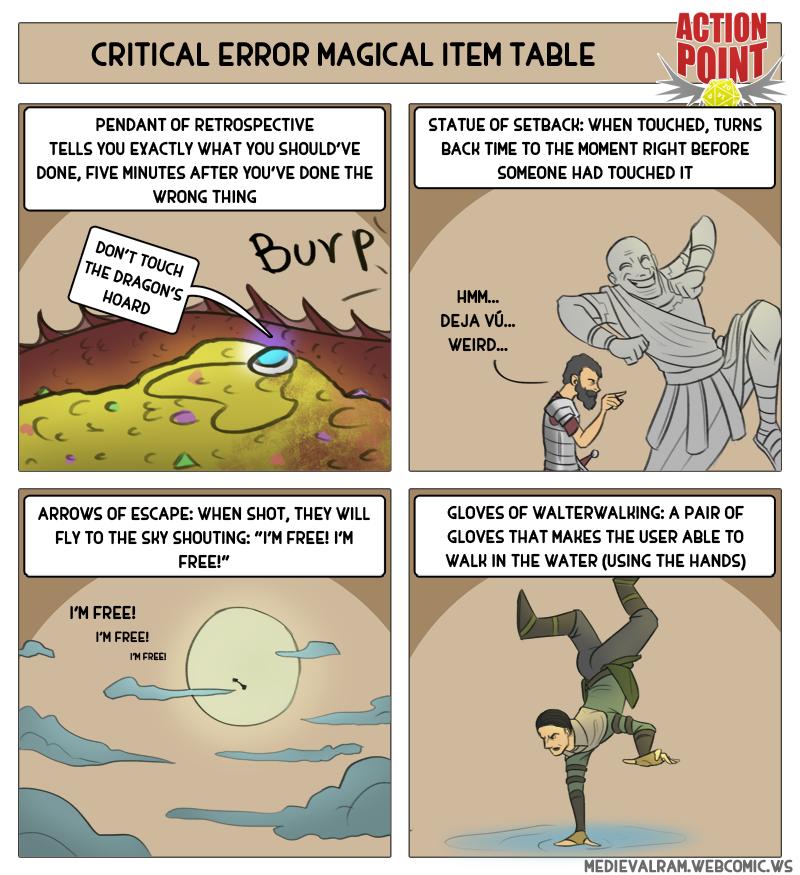 Critical Error Magic Item Table #11