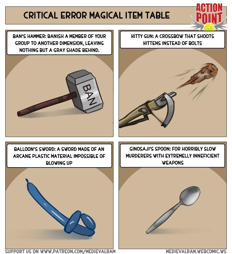 Critical Error Magic Item Table #12
