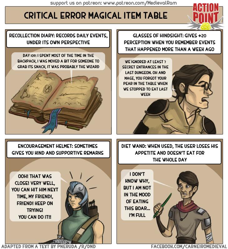 Critical Error Magic Item Table #13