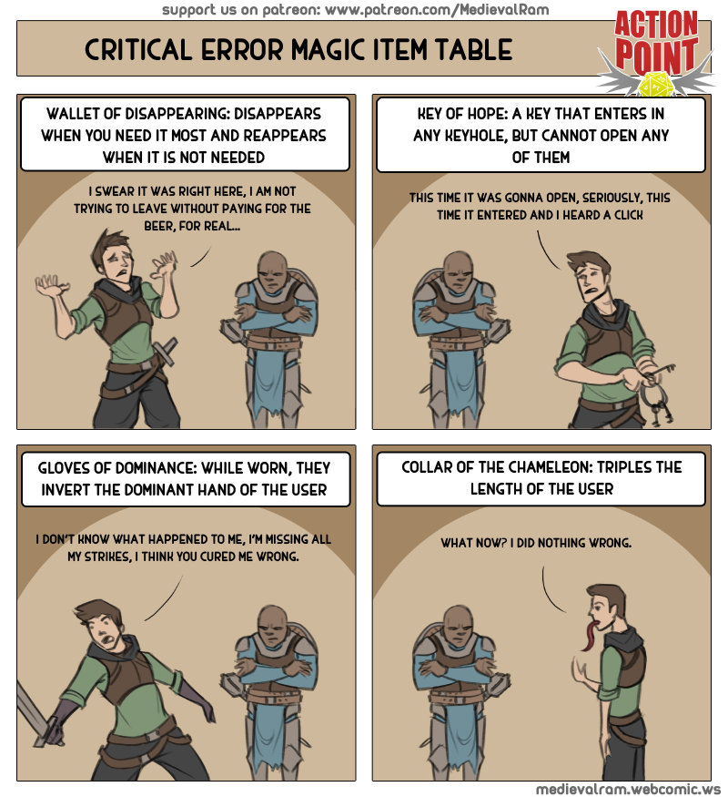 Critical Error Magic Item Table #14